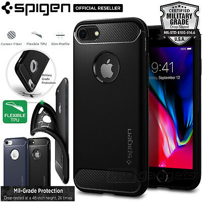 AU29.99 • Buy [FREE EXPRESS] IPhone 8 Case, Spigen Rugged Armor Cover For Apple