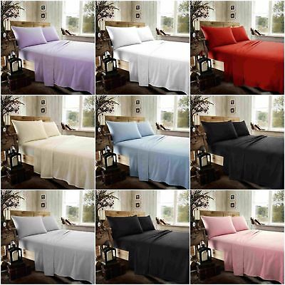 100/% Brushed Cotton Thermal Flannelette  40CM Extra Deep Fitted Or Pillow Cases
