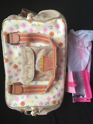 £19.99 • Buy Pink Lining Yummy Mummy Bag Excellent Condition Hardly Used Bargain Bees Flower