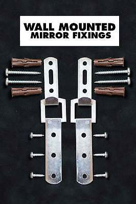 £6.49 • Buy Heavy Duty Mirror Fixings + Hooks + Straps + Fittings For A Solid Wall