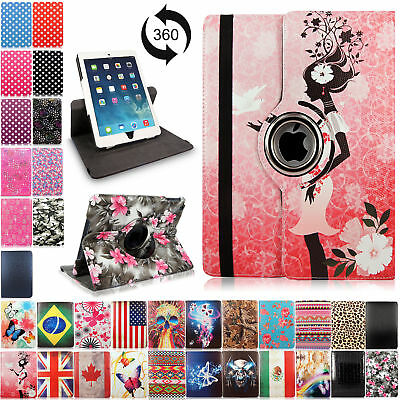 $6.99 • Buy For Apple IPad 2 3 4 Mini Air 360 Rotating Leather Case Smart Folio Stand Cover