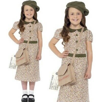 Girls 40s 1940s Child Costume Childrens Fancy Dress Childs Outfit By Smiffys New • 12.50£
