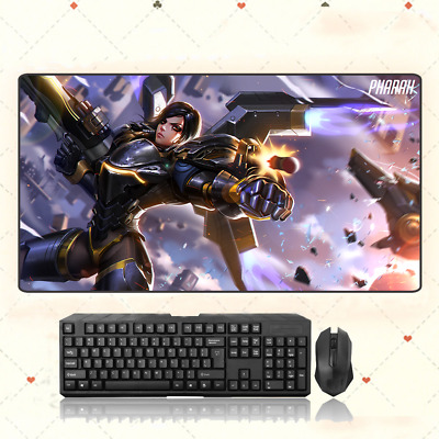 AU33.49 • Buy GAME Overwatch OW Pharah Extra Large Mouse Pad Free Shipping(31.5'' * 15.7'')