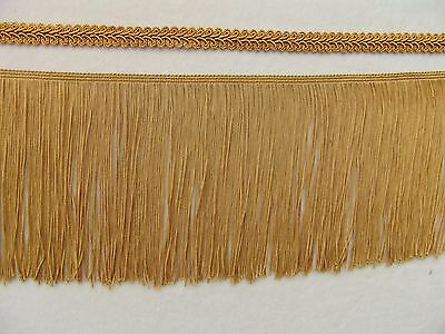 £3.60 • Buy Lovely 5 1/2  Gold Chainette Fringe Trim PLUS French Gimp Trim BY THE YARD