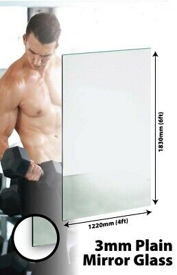 £89.99 • Buy Large Mirror Glass Gym Or Dance Studio 3mm Thick Value 6ft X 4ft 183cm X 122cm