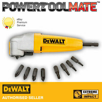 £22.25 • Buy Dewalt DT71517T Extreme Impact Right Angle Attachment + 9 Screwdriver Bits