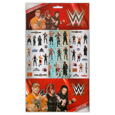 WWE Stickers, 6 Sheets, Each Sheet 14 X 7cm With Sticker Album • 2.49£
