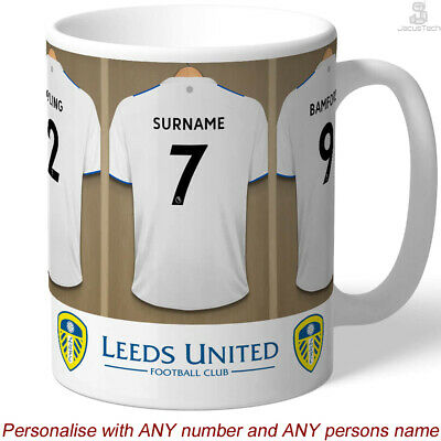 £13.90 • Buy PERSONALISED Leeds Mug / Cup. Shirt Name. Gift For LEEDS UNITED Fan, Supporter