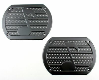 $39.95 • Buy Vintage BLACK Musical Note Speaker Grill Cover Package Tray 6X9 Lowrider PAIR