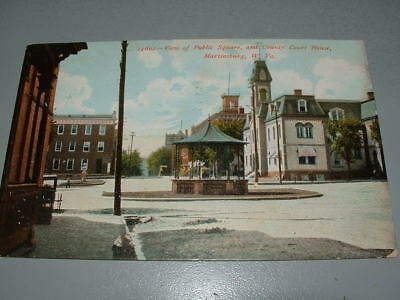 $ CDN11.91 • Buy 1908 Martinsburg WV Postcard, Public Square And Courthouse View, Rare Vintage