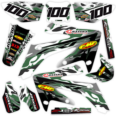 $159.99 • Buy 2005 2006 2007 Honda Crf 450r Dirt Bike Graphics Jet Fighter : Army Green / Grey