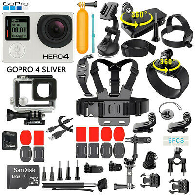 $ CDN181.20 • Buy GoPro HERO 4 Silver Edition Touchscreen Camera + 40 Pcs Extreme Sports Accessory