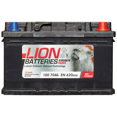 View Details Lion 100 100 Car Battery 3 Years Warranty 70Ah 620cca 12V L278 X W175 X H175mm • 42.53£