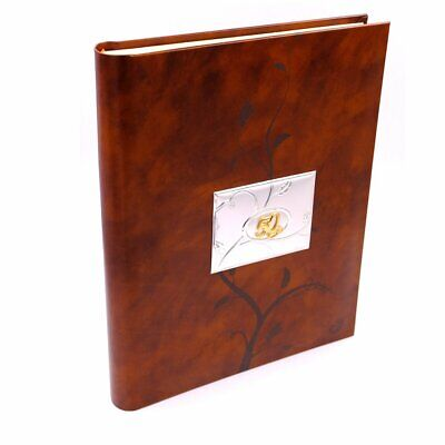 £90 • Buy Anniversary Real Leather 50th Anniversary Photo Album With Silver Plated Cover