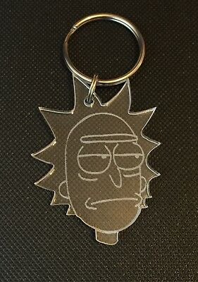 """£2.70 • Buy Rick And Morty """"Rick"""" Keyring Bag Charm Keychain Gift In Clear"""