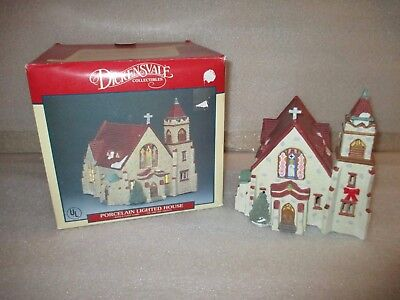$ CDN48.57 • Buy Lemax Dickensvale 1991 St Mary's Cathedral Church #15031 Christmas Village House