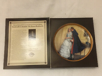 $ CDN16.23 • Buy Norman Rockwell  The Unexpected Proposal  9  Plate Edwin M. Knowles