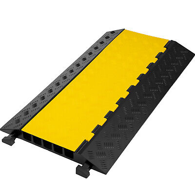 £32.87 • Buy 5 Channel Cable Protector Ramp Rubber Speed Bump Driveway Modular Speed Bumps