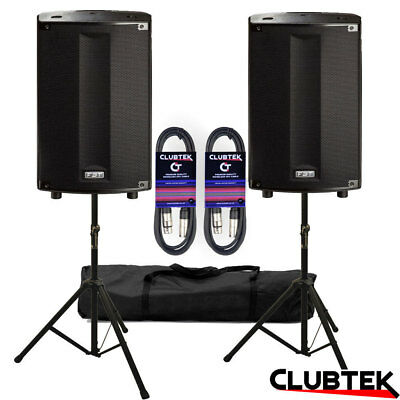 £1769 • Buy 2 X FBT ProMaxX 114A 14  Active Powered Speakers + FREE Stands Bag Leads UK