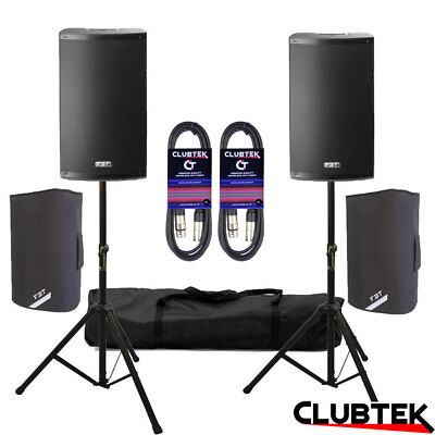 2 X FBT X-lite 15A 2000W 15  DJ Club Active Speakers + FREE Bags Stands Leads UK • 959£