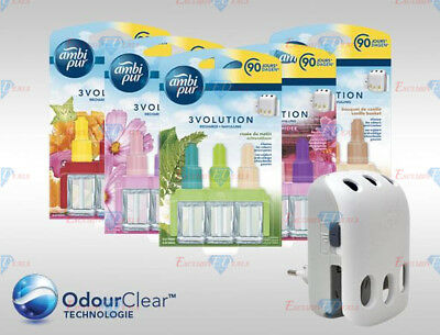 £10.95 • Buy Ambi Pur 3Volution Electric Plug In Refills Air Freshener 90 Days 3 X 3 Pack