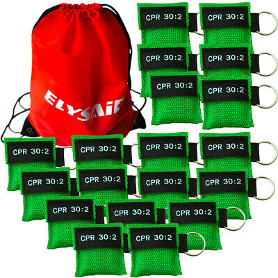 £1.50 • Buy CPR Face Mask Keychain CPR Face Shield Emergency Training CPR 30:2 Green