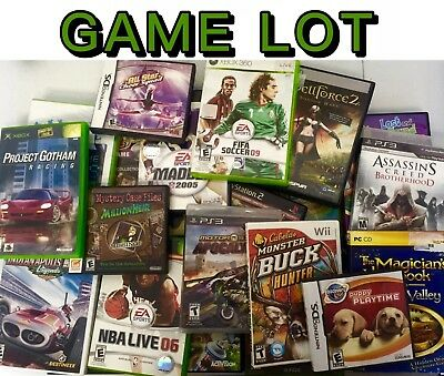 $ CDN344.03 • Buy 100 VIDEO GAMES LOT Ps2/PS3/xbox360/Xbox/Wii ALL GAMES Wholesale Bulk Game Lots