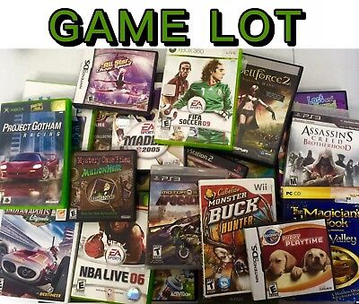 $ CDN474.54 • Buy 100 VIDEO GAMES LOT Ps2/PS3/xbox360/Xbox/Wii ALL GAMES Wholesale Bulk Game Lots