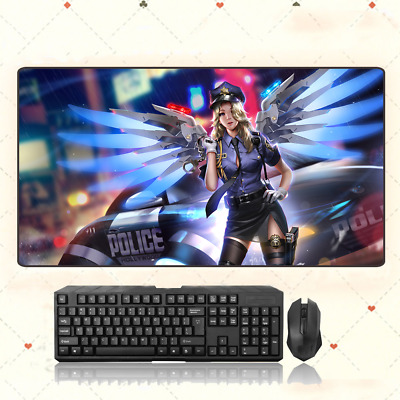 AU28.42 • Buy  GAME Overwatch OW Mercy Extra Large Mouse Pad Free Shipping(31.5'' * 15.7'')