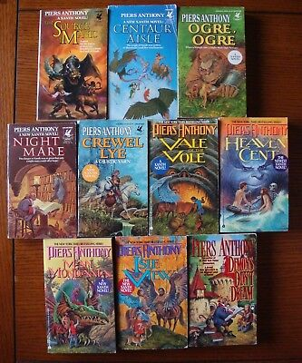 Piers Anthony - Lot Of 10 Xanth Paperbacks - Very Good Condition • 34.99$