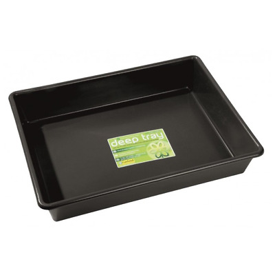 £11.95 • Buy Deep Tray Black Multipurpose Inside And Out Gardening Growing
