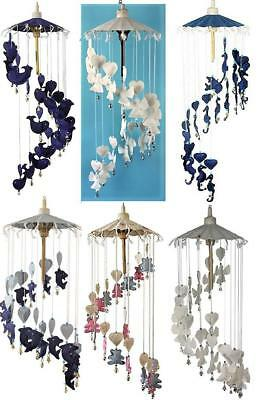 £12.99 • Buy Fair Trade Large Hanging Mobile Angel Heart Whale Dolphin Seahorse Teddy Bells
