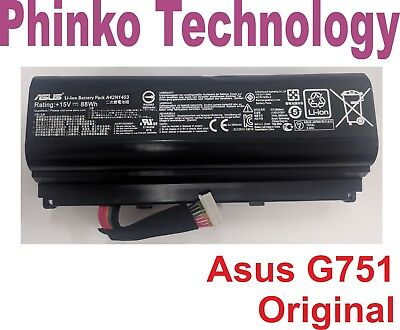 AU82.50 • Buy Original Battery For Asus ROG G751 G751J G751JL G751JM G751JT Series A42N1403