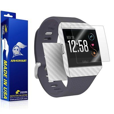 $ CDN18.27 • Buy ArmorSuit - Screen Protector + White Carbon Fiber Skin For Fitbit Ionic