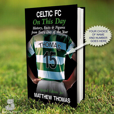 £15.90 • Buy CELTIC Book, PERSONALISED. History Facts. Celtic Fan Gift. Football Gift Present