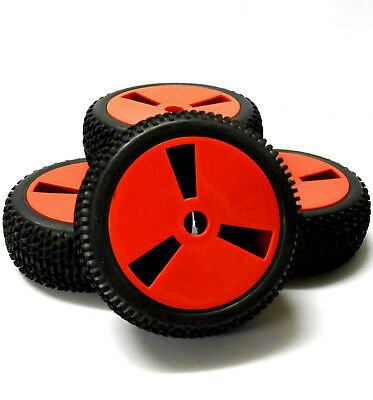 180005 1/8 Scale Off Road Buggy RC Wheels And Tyres Disc Red X 4 • 20.99£