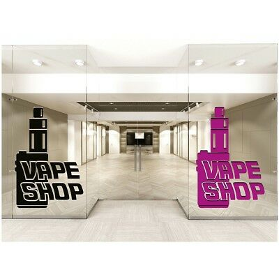AU17.79 • Buy Vape Shop Window Stickers Vaping Signs Wall Decal Colour Art