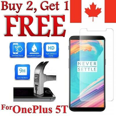 AU4.24 • Buy Premium Tempered Glass Screen Protector For OnePlus 5T