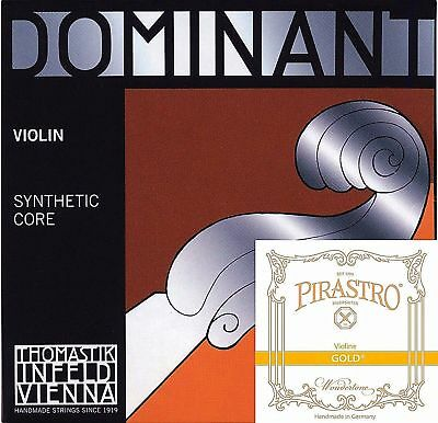 $39.95 • Buy Dominant Violin Strings Set 4/4 Size 135B A,D,G W/Gold Label E Ball End* *NEW* *