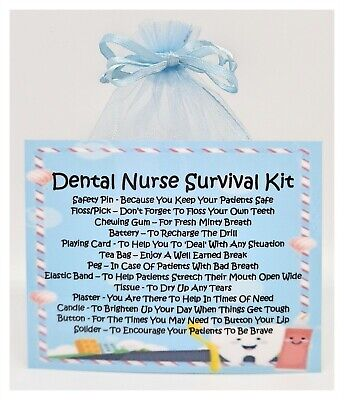 Dental Nurse Survival Kit - Unique Fun Novelty Gift & Card All In One • 5.50£