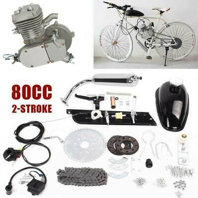 80cc 2-Stroke Cycle Engine Motor Kit Petrol Gas For Motorized Bicycle Silver • 90.93$