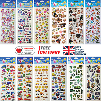 Fun Stickers Children Birthday Party Loot Bag Fillers Kids Decorating Pack B • 1.99£