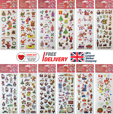 £1.99 • Buy Fun Stickers Christmas Children Birthday Party Loot Bag Fillers Kids Decorating