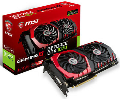 $ CDN1249 • Buy MSI GeForce GTX 1070 GAMING X 8G DirectX 12 VR Ready 8GB GDDR5 Video Card