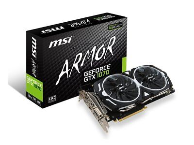 $ CDN1199 • Buy MSI GeForce GTX 1070 Armor 8G OC DirectX 12 8GB 256-Bit GDDR5 Video Card