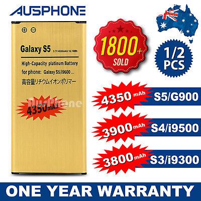 AU9.45 • Buy 2x NEW Li-ion Replacement Battery Gold High For Samsung Galaxy S5 S4 S3 OZ