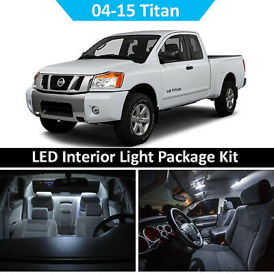 $13.49 • Buy WHITE LED Interior Light + Reverse Package Kit For 04-15 Nissan Titan 17 Bulbs