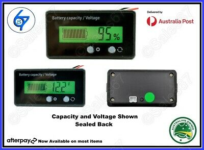 AU16 • Buy LCD 12V 24V 36V 48V Battery Status Voltage Voltmeter Monitor Meter Caravan
