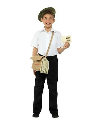Childrens WW2 Evacuee Fancy Dress Book Day Instant Costume Kit Hat Bag + Book • 12.95£