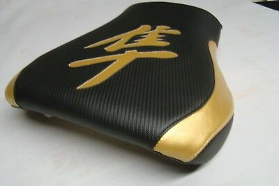 $99 • Buy Hayabusa 99/00/01/02/03/04/05/6/07 Gsxr1300 Front & Rear Seat Covers Black  Gold